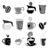 Coffee design elements Stock Image