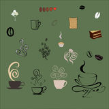 Coffee design elements Royalty Free Stock Photos