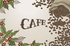 Coffee design elements Stock Photography