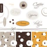 Coffee - design elements Stock Photos