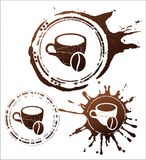 Coffee design elements. vector illustration Royalty Free Stock Images