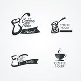 Coffee design elements. Royalty Free Stock Photography