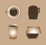 Coffee design Royalty Free Stock Photography