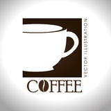 Coffee design over white background vector illustration Stock Photos
