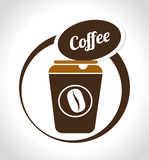Coffee design over white background vector illustration Royalty Free Stock Images