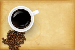 Coffee design with place for your text Stock Image