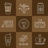 Coffee design set Royalty Free Stock Photos