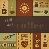 Coffee Design Set Royalty Free Stock Photography