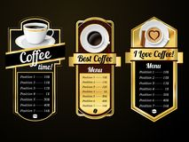 Coffee design templates Royalty Free Stock Photos
