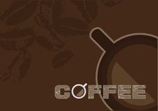 Coffee Design Vector. Coffee design elements on dark background. Vector illustration stock illustration