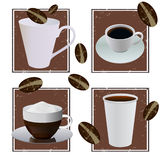 Coffee designs Royalty Free Stock Photos