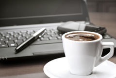 Coffee on desk Royalty Free Stock Images
