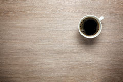 Coffee on desk Royalty Free Stock Photos