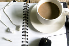 Coffee on the desk. Royalty Free Stock Images