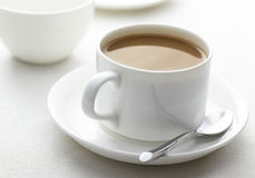 Coffee on the desktop background Royalty Free Stock Photos