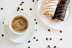 Coffee with dessert Royalty Free Stock Image