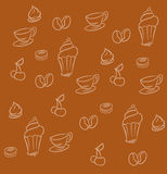 Coffee dessert background Royalty Free Stock Images