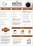 Coffee and dessert menu flat design Royalty Free Stock Image
