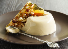 Coffee dessert panna cotta Stock Images