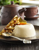 Coffee dessert panna cotta Stock Image