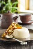 Coffee dessert panna cotta Royalty Free Stock Photo