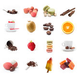 Coffee and desserts collage Royalty Free Stock Image