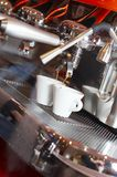The coffee device. Machine coffee in the coffee bar (cafe Royalty Free Stock Photography