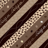 Coffee diagonal pattern Stock Images