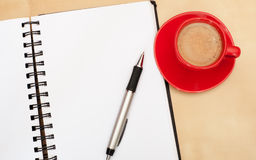 Coffee and Diary Royalty Free Stock Photo