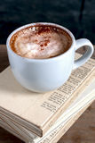 Coffee on a diary Royalty Free Stock Images