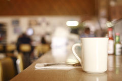 Coffee at diner Royalty Free Stock Images