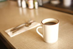 Coffee at diner Royalty Free Stock Image