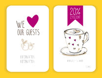 Coffee discount card. template for your design Royalty Free Stock Photos