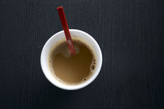 Coffee in a Disposable Cup Stock Images