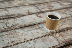 Coffee in disposable cup Royalty Free Stock Image