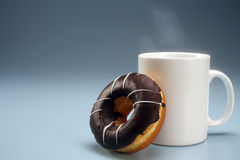 Coffee and donut Stock Photo