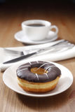 Coffee and donut Royalty Free Stock Photo