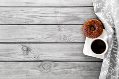 Coffee with donut Royalty Free Stock Image