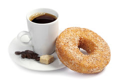 Coffee and donut Royalty Free Stock Image