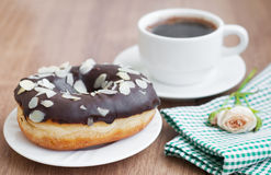 Coffee and Donut Stock Photography