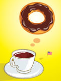 Coffee and Donut Royalty Free Stock Photos