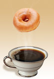 Coffee and Donuts. Stock Images