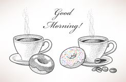 Coffee and donuts Royalty Free Stock Photos