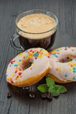 Coffee with donuts Royalty Free Stock Photo