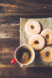Coffee and donuts Stock Image