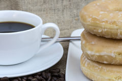 Coffee and donuts Royalty Free Stock Image