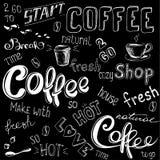 Coffee doodle background Stock Image