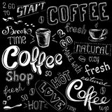 Coffee doodle background Stock Photography