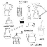 Coffee doodle collection. Stock Image