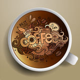Coffee doodles elements background Stock Photography